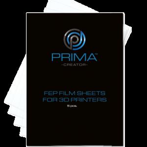 Primacreator FEP Film Sheets for 3D Printers - 140 X 200 MM - 5-Pack